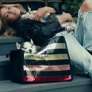 Victoria's Secret Striped Sequin Tote Bag